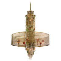 Riviera 16 Light 42 inch Riviera Bronze with Silver Leaf Pendant Entry Ceiling Light