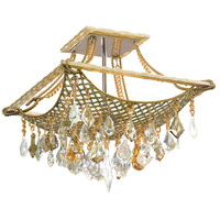 Corbett Lighting Barcelona 4 Light Semi-Flush in Silver and Gold Leaf 125-34