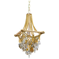 Barcelona 1 Light 11 inch Silver and Gold Leaf Mini-Pendant Ceiling Light