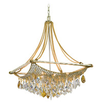 Barcelona 8 Light 25 inch Silver and Gold Leaf Pendant Ceiling Light