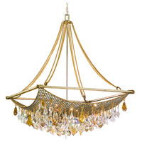 Barcelona 8 Light 33 inch Silver and Gold Leaf Pendant Ceiling Light