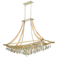 Barcelona 12 Light 51 inch Silver and Gold Leaf Island Light Ceiling Light