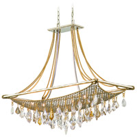 Corbett Lighting Barcelona 8 Light Island Light in Silver and Gold Leaf 125-58