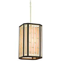 Corbett Lighting Makati 4 Light Pendant in Silver Leaf Accents 126-44