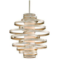 Vertigo 2 Light 17 inch Modern Silver Pendant Fluorescent Ceiling Light