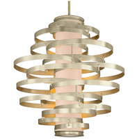 Vertigo 6 Light 45 inch Modern Silver Leaf Pendant Ceiling Light
