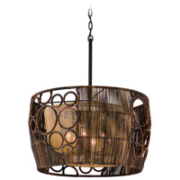 Corbett Lighting Havana 6 Light Pendant Dining in Two Tone Natual Wood 129-06