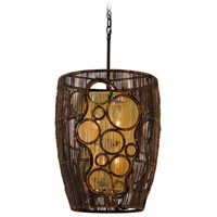 Corbett Lighting Havana 6 Light Pendant in Two Tone Natual Wood 129-45