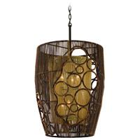 Corbett Lighting Havana 6 Light Pendant Entry in Two Tone Natual Wood 129-46