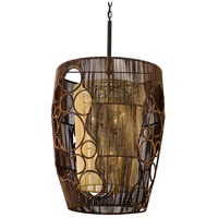 Corbett Lighting Havana 8 Light Pendant Entry in Two Tone Natual Wood 129-48
