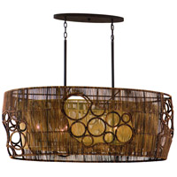 Corbett Lighting Havana 6 Light Pendant Island in Two Tone Natual Wood 129-56