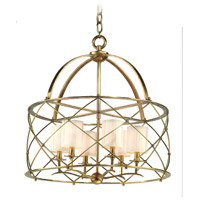 Corbett Lighting Argyle 6 Light Chandelier in Aged Brass 13-04