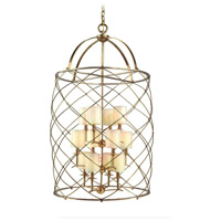 Corbett Lighting Argyle 12 Light Foyer Chandelier in Aged Brass 13-412