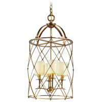 Corbett Lighting Argyle 4 Light Foyer Chandelier in Aged Brass 13-44 photo thumbnail