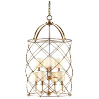 Corbett Lighting Argyle 8 Light Foyer Chandelier in Aged Brass 13-48