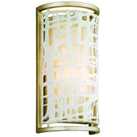 Kyoto 1 Light 6 inch Silver Leaf Finish Wall Sconce Wall Light