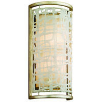 Kyoto 2 Light 8 inch Silver Leaf Finish Wall Sconce Wall Light