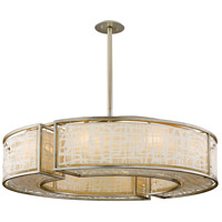 Kyoto 10 Light 44 inch Silver Leaf Finish Pendant Ceiling Light