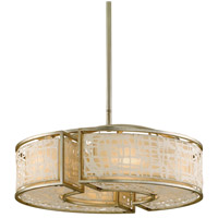 Corbett Lighting Kyoto 6 Light Pendant in Silver Leaf Finish 131-46