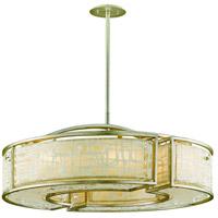 Corbett Lighting 131-48 Kyoto 8 Light 36 inch Silver Leaf Finish Pendant Ceiling Light