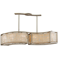 Corbett Lighting 131-56 Kyoto 6 Light 48 inch Silver Leaf Finish Island Light Ceiling Light