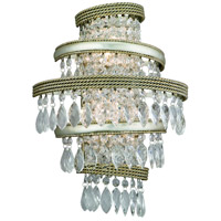 Diva 2 Light Silver Leaf with Gold Leaf Accent Wall Sconce Wall Light