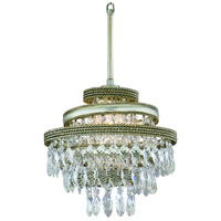 Diva 1 Light 12 inch Silver Leaf with Gold Leaf Accent Mini-Pendant Ceiling Light