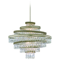 Diva 5 Light 24 inch Silver Leaf with Gold Leaf Accent Pendant Ceiling Light