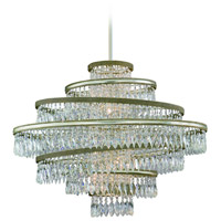 Diva 7 Light 42 inch Silver Leaf with Gold Leaf Accent Pendant Ceiling Light