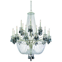 Corbett Lighting La Scala 18 Light Chandelier in Silver Leaf Finish 133-018