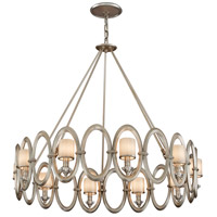 Embrace 10 Light 40 inch Satin Silver Leaf Pendant Ceiling Light