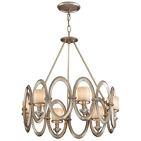 Corbett Lighting Embrace 6 Light Pendant in Satin Silver Leaf 134-46