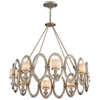 Corbett Lighting Embrace 8 Light Pendant in Satin Silver Leaf 134-48