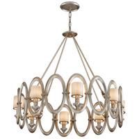 Corbett Lighting Embrace 8 Light Pendant in Satin Silver Leaf 134-48 photo thumbnail