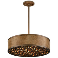 Mambo 4 Light 20 inch Mambo Bronze Pendant Fluorescent Ceiling Light