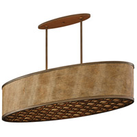 Mambo 6 Light 45 inch Mambo Bronze Island Light Fluorescent Ceiling Light
