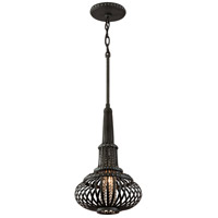 Corbett Lighting Eden 1 Light Pendant in Old Pewter with Silver Accents 136-41
