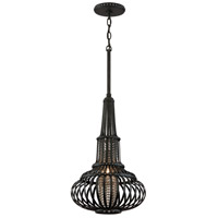 Corbett Lighting Eden 1 Light Pendant in Old Pewter with Silver Accents 136-42