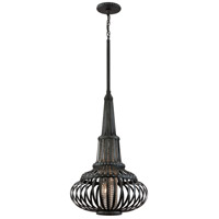 Corbett Lighting Eden 3 Light Pendant in Old Pewter with Silver Accents 136-43