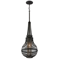 Corbett Lighting Oasis 1 Light Pendant in Old Pewter with Silver Accents 137-42