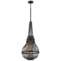 Corbett Lighting Oasis 3 Light Pendant in Old Pewter with Silver Accents 137-43