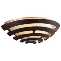 Corbett Lighting 138-11 Tango LED 13 inch Textured Bronze with Warm Silver Leaf Wall Sconce Wall Light photo thumbnail