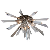 Corbett Lighting Inertia 3 Light Flush Mount in Silver Leaf Finish 140-33