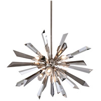 Corbett Lighting Inertia 6 Light Pendant in Silver Leaf Finish 140-46
