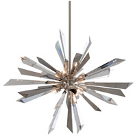 Corbett Lighting Inertia 6 Light Pendant in Silver Leaf Finish 140-47