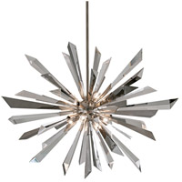 Corbett Lighting Inertia 8 Light Pendant in Silver Leaf Finish 140-48
