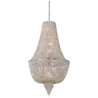 Vixen 8 Light 33 inch Polished Nickel Jewe Pendant Ceiling Light