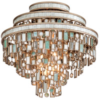 Corbett Lighting Dolcetti 3 Light Semi-Flush in Dolcetti Silver 142-33