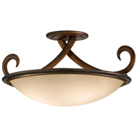 Corbett Lighting Dauphine 3 Light Semi-Flush Fluorescent in Bronze 153-33-F