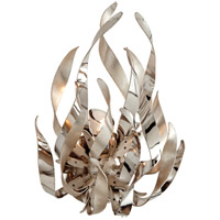 Graffiti 1 Light 10 inch Silver Leaf and Polished Stainless Wall Sconce Wall Light